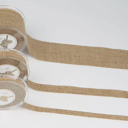 Διακοσμητική κορδέλα ΤΣΟΥΒΑΛΙ Φυσική 1.3cm / 2.3cm / 4.3cm / 6.7cmx9m