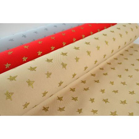 Χριστουγεννιάτικο ύφασμα με Αστεράκια 50cmx5m