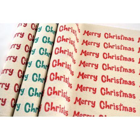 Χριστουγεννιάτικο ύφασμα ΛΟΝΕΤΑ MERRY CHRISTMAS 50cmx5m