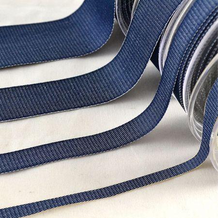 Διακοσμητική κορδέλα Βαμβακερή Μπλε 6mmx23m - 1.2cmx18.2m - 2.5cm / 3.8cmx9m