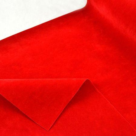 Διακοσμητικό ύφασμα ΒΕΛΟΥΔΟ ΔΙΠΛΗΣ ΟΨΗΣ Κόκκινο 50cm / 75cmx5m
