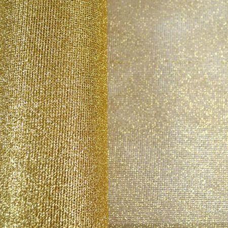 Χριστουγεννιάτικο ύφασμα Δίχτυ με glitter Χρυσό 50cmx9m