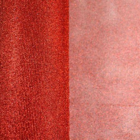 Χριστουγεννιάτικο ύφασμα Δίχτυ με glitter Κόκκινο 50cmx9m