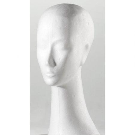 Διακοσμητικό Κεφάλι Γυναικείο με μακρύ λαιμό Λευκό 42cm
