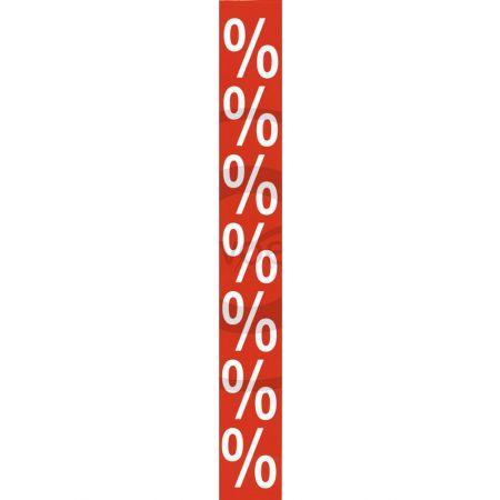 Αυτοκόλλητο για την βιτρίνα των εκπτώσεων με το σήμα ποσοστού %
