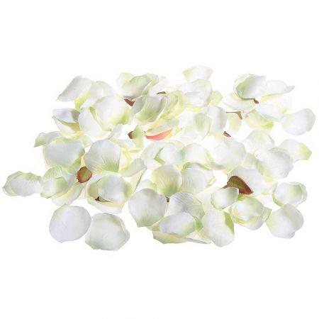 Σετ 100τχ διακοσμητικά ροδοπέταλα Λευκά  6cm
