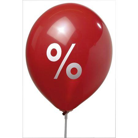 Σετ 100τμχ. Διακοσμητικά μπαλόνια με εκτύπωση %, 85cm