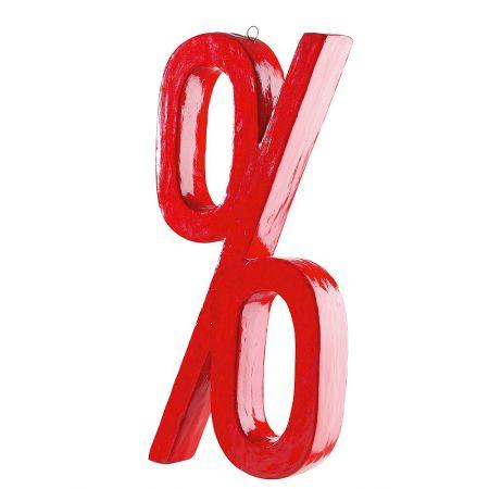 Διακοσμητικό 3D σύμβολο Ποσοστό, 70cm