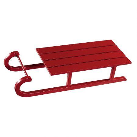Διακοσμητικό ξύλινο έλκηθρο Κόκκινο 50cm