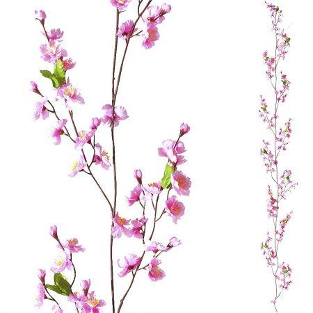 Διακοσμητική ανοιξιάτικη γιρλάντα με άνθη κερασιάς Ροζ 180cm