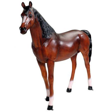 Διακοσμητικό άλογο Καφέ 210x45x188cm