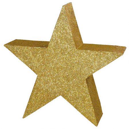 Διακοσμητικό Χριστουγεννιάτικο Αστέρι δαπέδου Χρυσό 65cm
