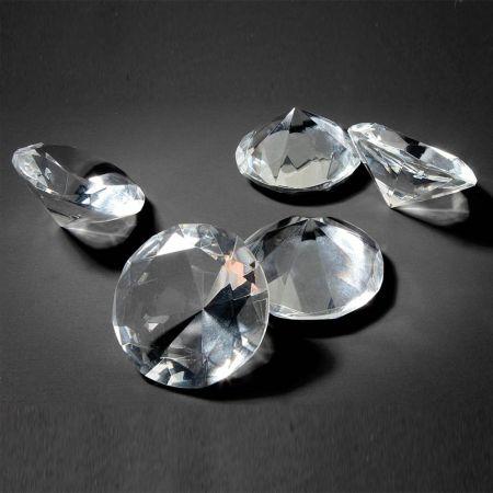 Σετ 5τχ Διακοσμητικά γυάλινα διαμάντια 4cm