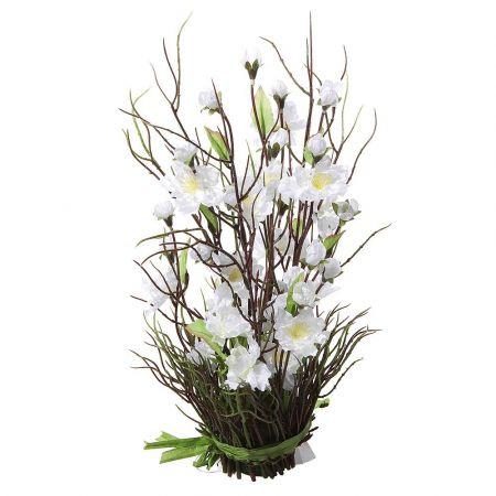 Ανθισμένη δέσμη με άνθη κερασιάς Λευκά 33cm