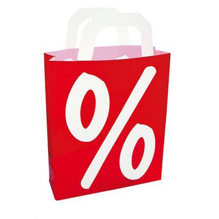 Διακοσμητική τσάντα με το σήμα ποσοστού, 46cm