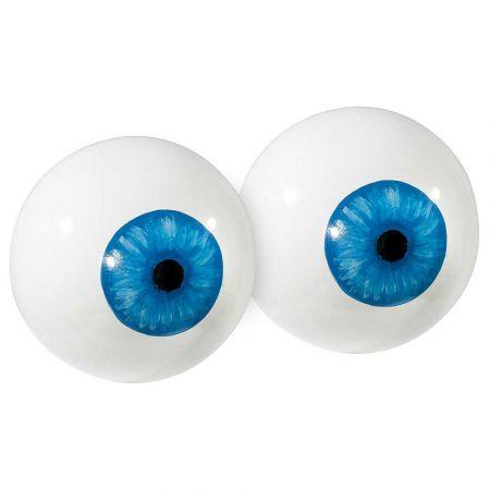Σετ 2τχ Διακοσμητικοί βολβοί ματιού Λευκό - Γαλάζιο 20cm