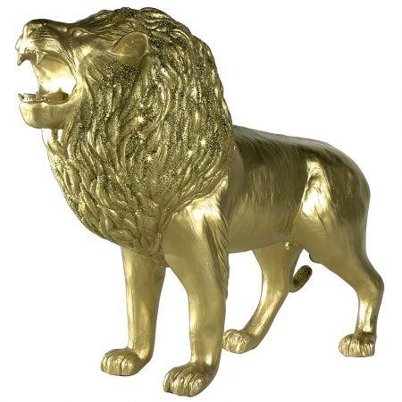 Διακοσμητικό λιοντάρι Χρυσό 140x50x113cm