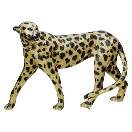 Διακοσμητική Λεοπάρδαλη Χρυσή - Μαύρη 110x25x83cm