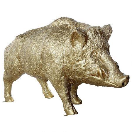 Διακοσμητικό αγριογούρουνο χρυσό 160x70x90cm