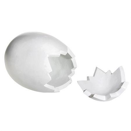 XXL πασχαλινό αυγό σπασμένο (2 τμήματα) Λευκό 70cm