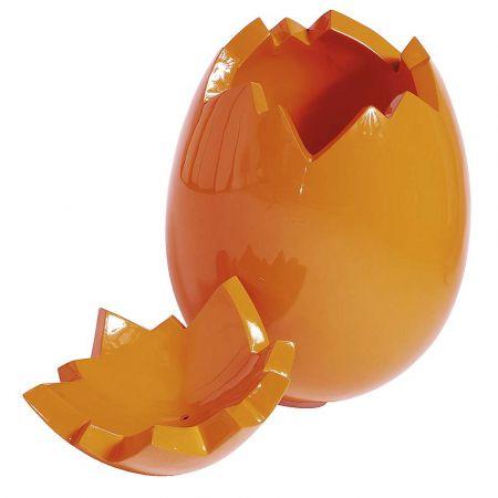 XXL πασχαλινό αυγό σπασμένο (2 τμήματα) Πορτοκαλί 70cm