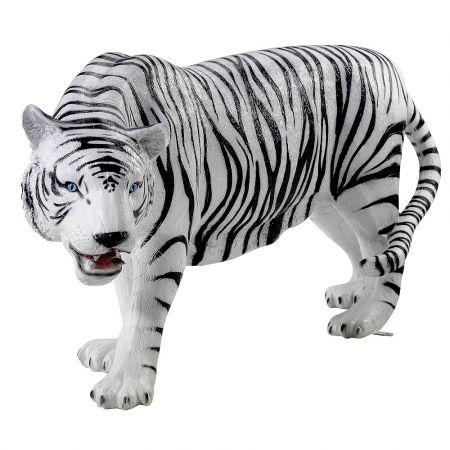 Διακοσμητική τίγρης Λευκή - Μαύρη 170x40x87cm