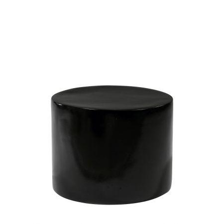 Διακοσμητικό Τραπεζάκι Βιτρίνας Fiberglass Μαύρο 25x33cm