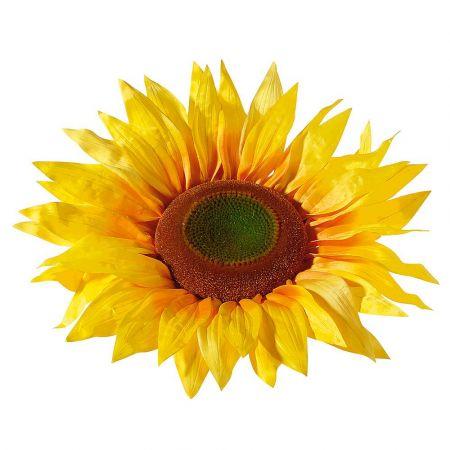 XXL διακοσμητικό άνθος Ηλίανθου Κίτρινο 60cm