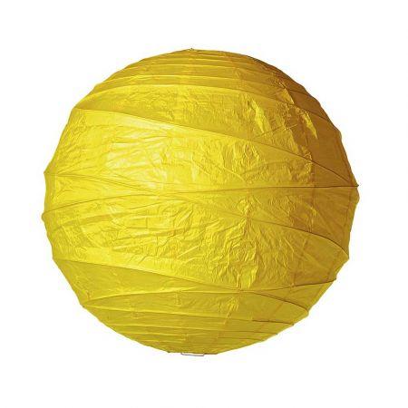 Διακοσμητικό μπαλόνι - φανάρι κίτρινο, 90cm