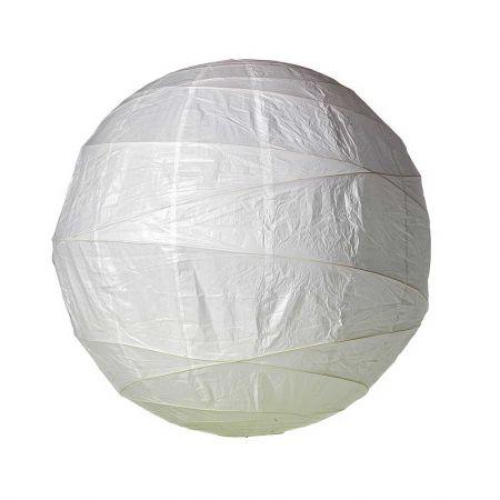 Διακοσμητικό φανάρι - μπάλα Λευκό 90cm