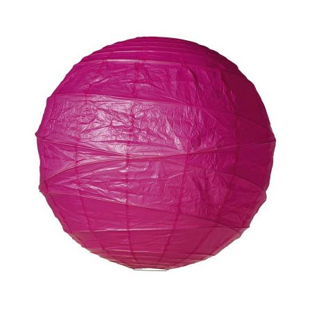 Διακοσμητικό φανάρι - μπάλα Φούξια 90cm