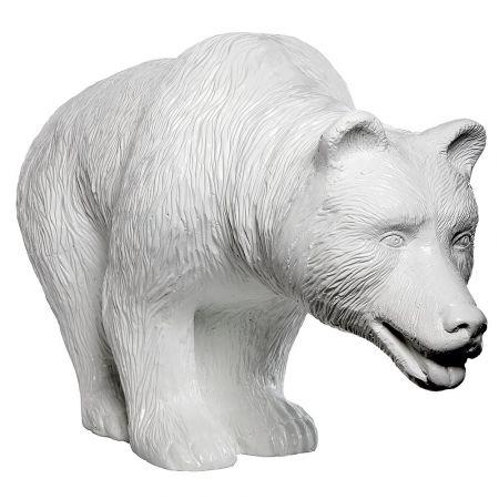 Διακοσμητική αρκούδα Λευκή 100x40x60cm