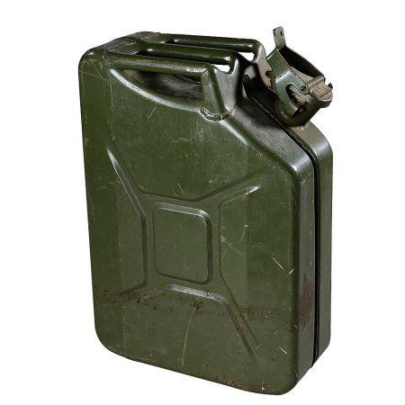 Διακοσμητικό ντεπόζιτο βενζίνης μεταλλικό 10lt Λαδί