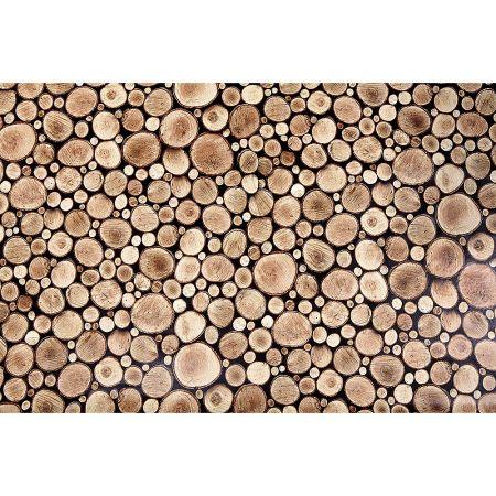 Διακοσμητικό ρολό PVC με απεικόνιση ροδέλες ξύλου 140cm