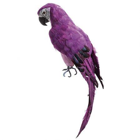 Διακοσμητικός μεγάλος παπαγάλος Μώβ 70cm