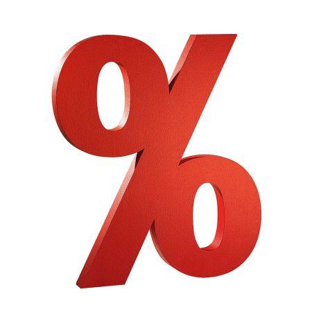 Διακοσμητικό σύμβολο Ποσοστό %, 110x100 cm