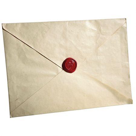 XL Φάκελος Μπεζ με Κόκκινο βουλοκέρι 35x50cm
