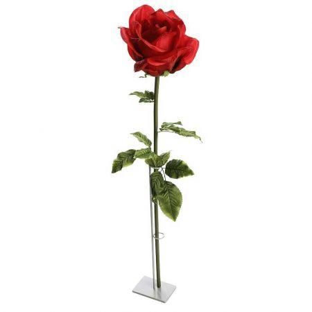 XXL διακοσμητικό τριαντάφυλλο Κόκκινο 110cm