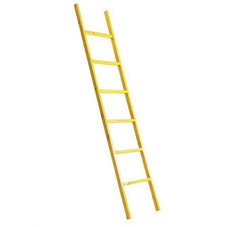 Διακοσμητική Σκάλα Ξύλινη - 6 Πατήματα Κίτρινο 170x38cm