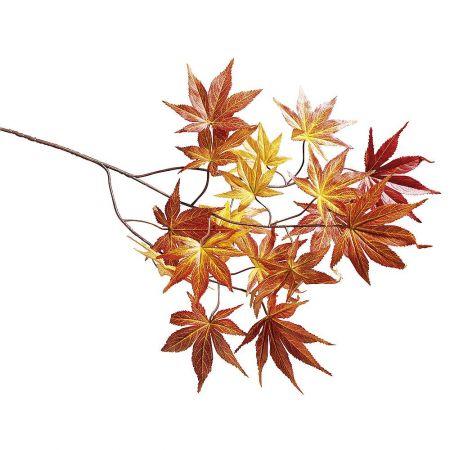 Διακοσμητικό κλαδί με φθινοπωρινά φύλλα, 72cm
