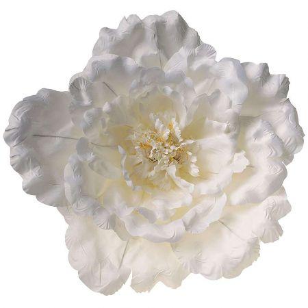 XL Διακοσμητικό άνθος Παιώνιας Λευκό 65cm