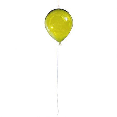 Διακοσμητικό πλαστικό διάφανο μπαλόνι Κίτρινο 28cm