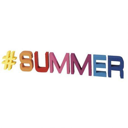 Διακοσμητικά γράμματα -#SUMMER- 15x80x5cm