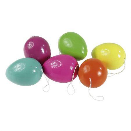 Σετ 6τχ Πολύχρωμα Πασχαλινά αυγά 10cm