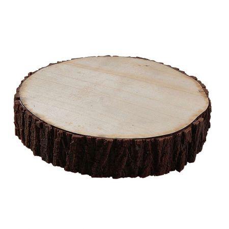 Διακοσμητική τεχνητή ροδέλα ξύλου 20cm