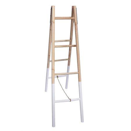 Διακοσμητική Σκάλα Ξύλινη Διπλη - 4 Πατήματα 39x145cm
