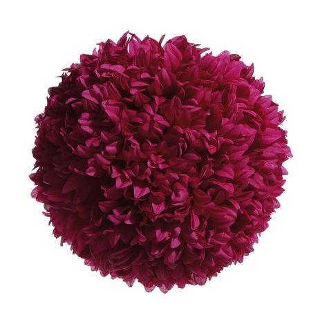 Διακοσμητική μπάλα - Pom Pom Φούξια 30cm