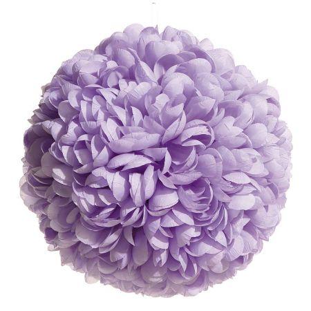 Διακοσμητική μπάλα - Pom Pom Λιλά 30cm