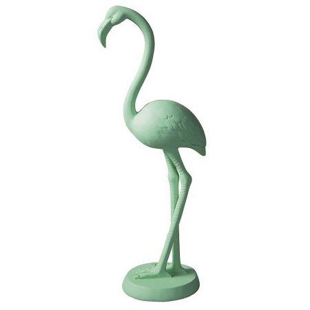 Διακοσμητικό Φλαμίνγκο Πράσινο παστέλ 41cm