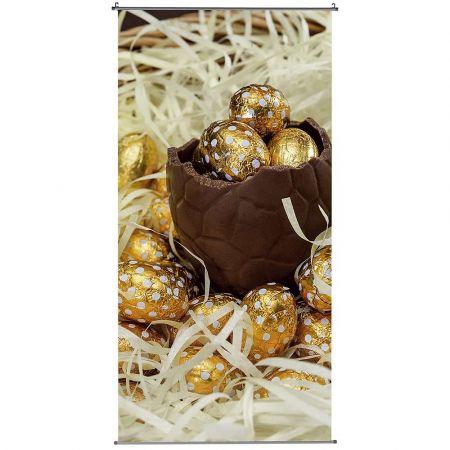 Διακοσμητική αφίσα - Banner με σοκολατένια αυγά 100x200cm